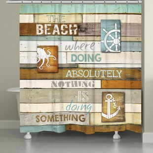 Alton Beach Mantra Single Shower Curtain