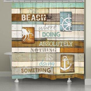 Alton Beach Mantra Single Shower Curtain