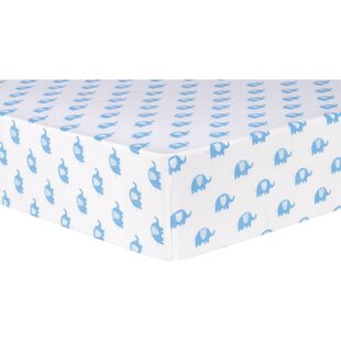 Great choice Elephants Deluxe Flannel Fitted Crib Sheet ByTrend Lab