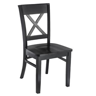 Charlton Home Riggle Solid Wood Side Chair (Set of 2)