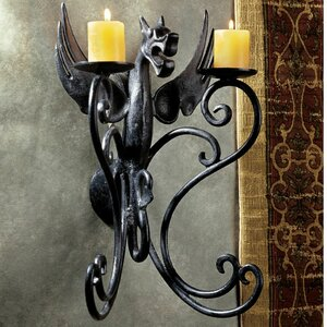 Castle Dragon Iron Sconce