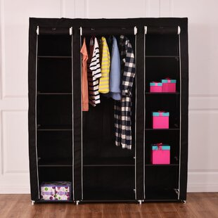 Compare & Buy Aliyah 59'' W Portable Closet Storage Organizer Clothes Wardrobe Shoe Rack with Shelves By Rebrilliant