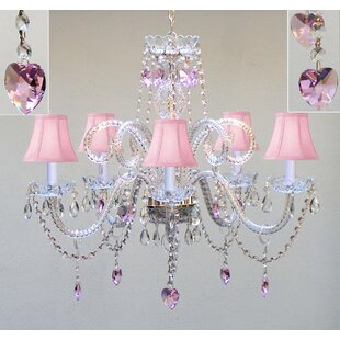 Kardos Swarovski 5-Light Shaded Chandelier by House of Hampton