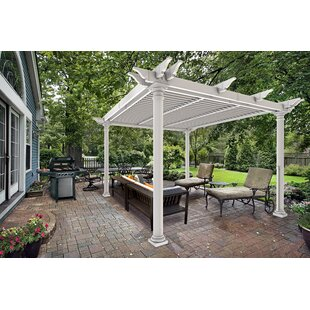 Preston 10 Ft. W x 10 Ft. D Vinyl Pergola by New England Arbors