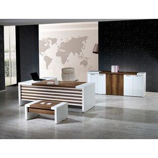 Corrigan Studio Wynter Modern 3 Piece L Shaped Desk Office Suite