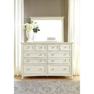 Burris 10 Drawer Dresser With Mirror by Alcott Hill