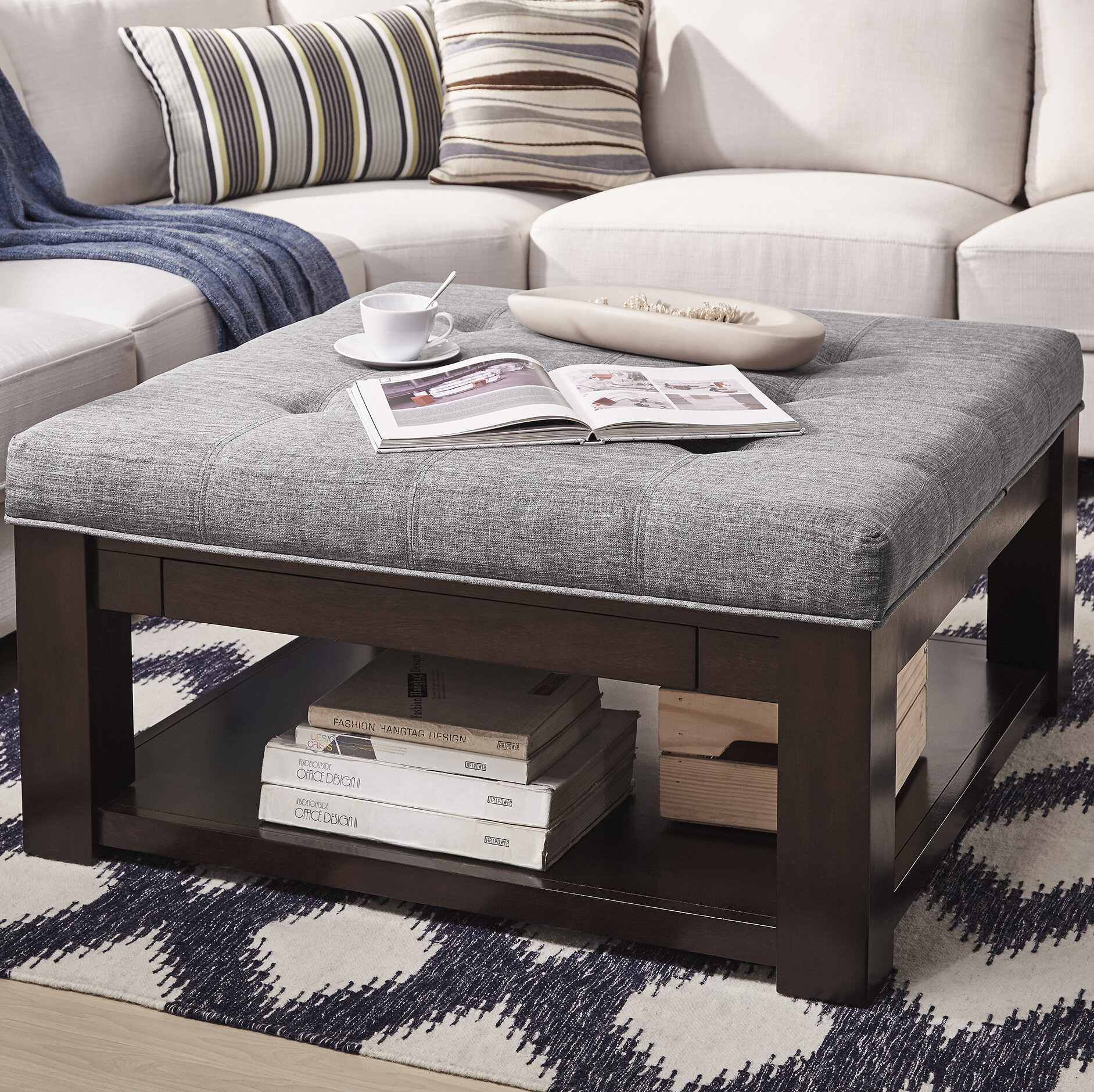 Abshire Tufted Cocktail Ottoman Reviews Joss Main