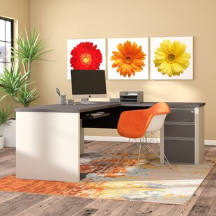 Affordable Price Karla L-Shape Executive Desk By Latitude Run