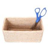 Albin Rattan Rectangular Basket