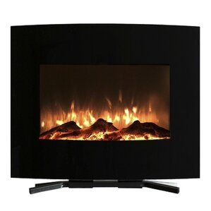 Curved Wall Mount Electric Fireplace by Northwest