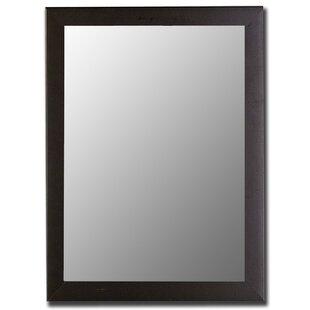 Savings Modern Satin Black Wall Mirror ByHitchcock Butterfield Company