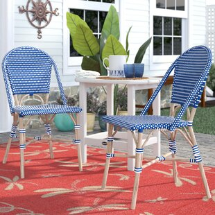 Thames Stacking Patio Dining Chair (Set of 2) by Breakwater Bay