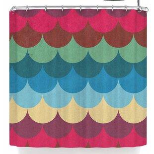 East Urban Home Tobe Fonseca Colorful Mermaid Shower Curtain