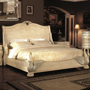 Norman Swan King Sleigh Bed