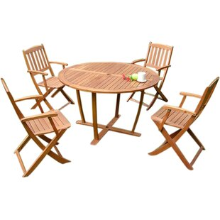 Berlinville 5 Piece Dining Set by Charlto..