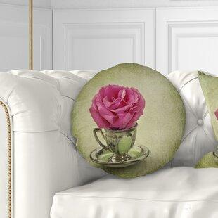 Floral Rose Throw Pillow