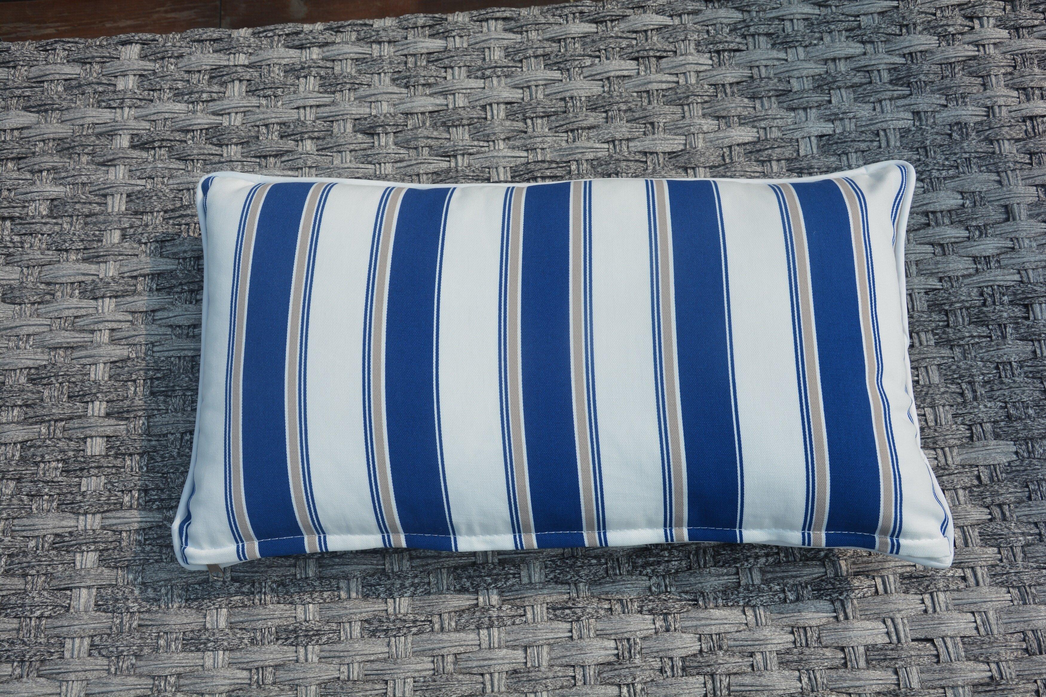Breakwater Bay Melany Indoor/Outdoor Stripe Lumbar Pillow | Wayfair