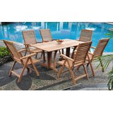 Stephon Luxurious 7 Piece Teak Dining Set
