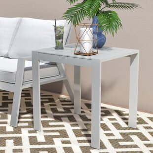 Reynosa Contemporary Aluminum Side Table
