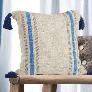 Sasso Striped 100% Cotton Throw Pillow