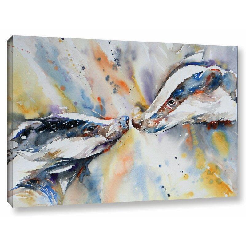 Latitude Run Badgers 3 Painting Print On Wrapped Canvas Wayfair