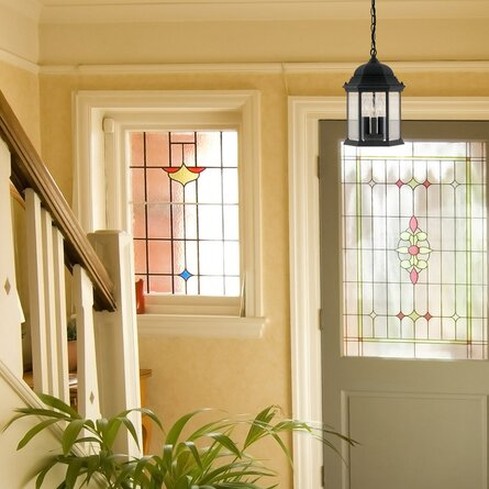 Castellanos Black 3 -Bulb 15'' H Mains Only Outdoor Hanging Lantern