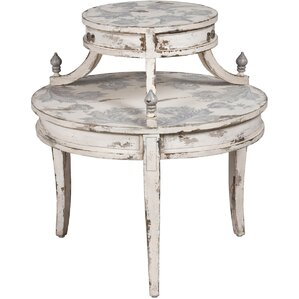Edwina Round Tiered End Table by One Allium ..