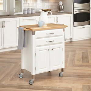 Hamilton Kitchen Island with Wood Top by Charlton Home Online Cheap