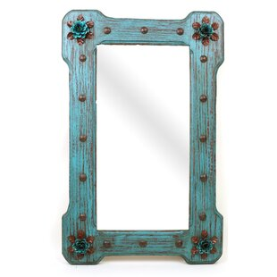 Large Bloom Rustic Accent Mirror By My Amigos Imports