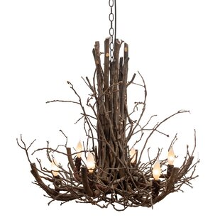 Loon Peak Todd Branch Twig 6-Light Candle Style Chandelier
