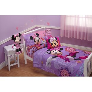 Beau Minnieu0027s Fluttery Friends 4 Piece Toddler Bedding Set