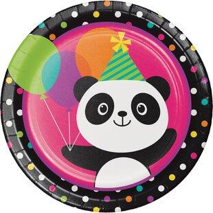 Panda Paper Plate (Set of 24)