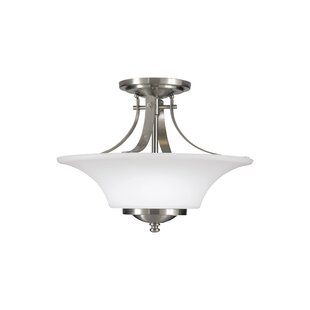 Pompton 2-Light Semi Flush Mou..