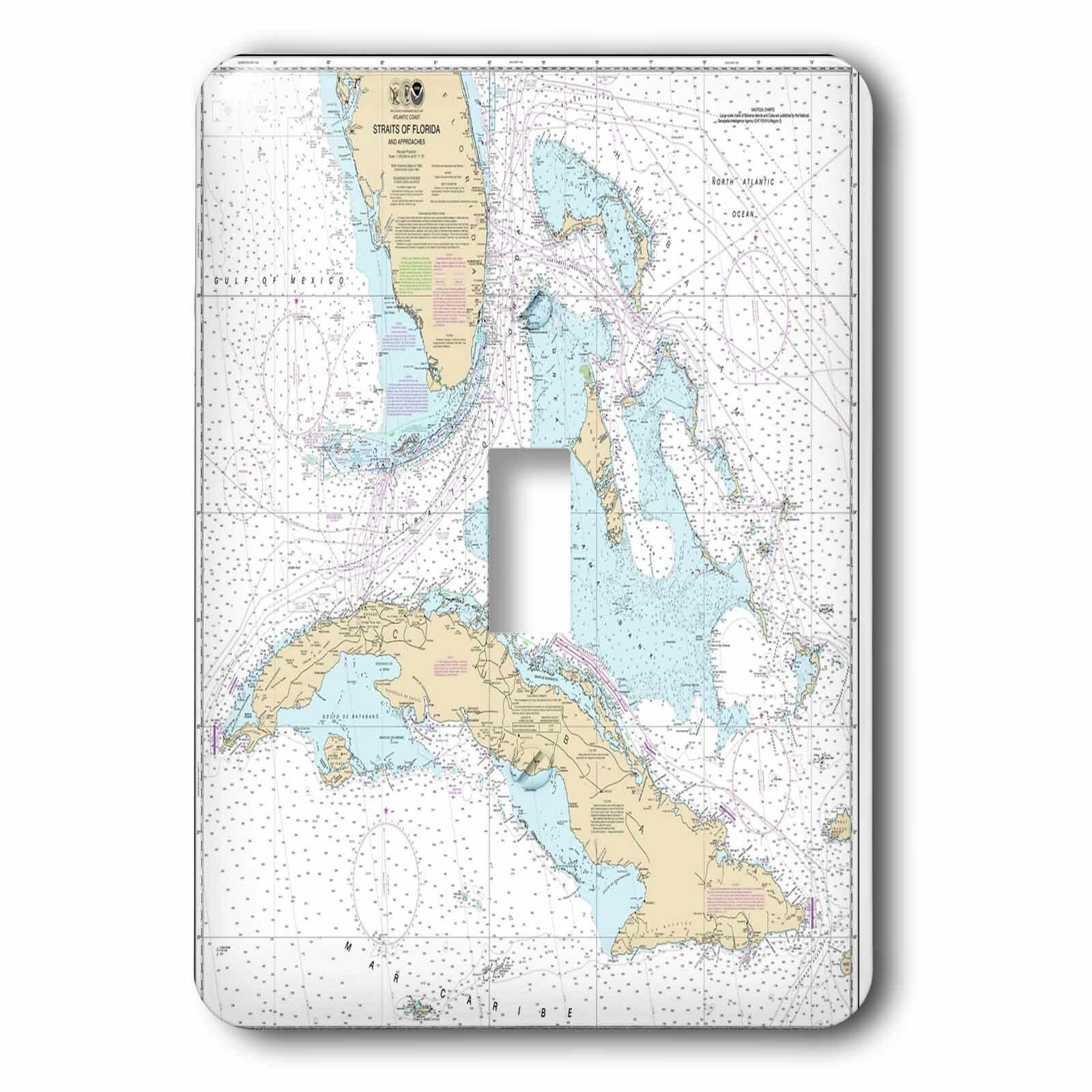 3drose Cuba And Florida Chart 1 Gang Toggle Light Switch Wall Plate Wayfair