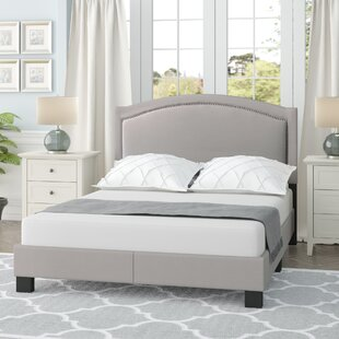 Carrollton Queen Upholstered Panel Bed by Charlton Home Today Sale Only