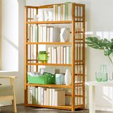 Coverton 61.8 H x 35.4 W Solid Wood Etagere Bookcase by Winston Porter