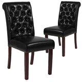 Tufted Upholstered Parsons Chair (Set of 2) by Charlton Home®