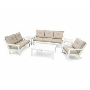 Vineyard 6 Piece Sofa Set with Sunbrella Cushions