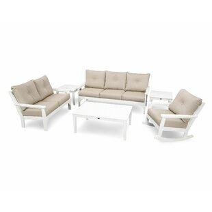 Vineyard 6 Piece Sofa Set With Sunbrella Cushions by POLYWOOD® Modern