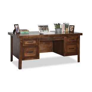 Grandfield Solid Wood Computer Desk by Loon Peak