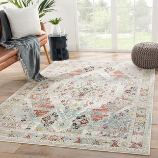 Vallejo Medallion Beige/Blue Indoor/Outdoor Area Rug