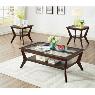 Roessler 3 Piece Coffee Table Set