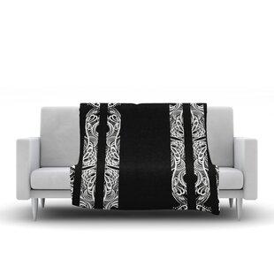 Best Reviews Maria Bazarova Lines Vector Art Deco Fleece Blanket ByEast Urban Home