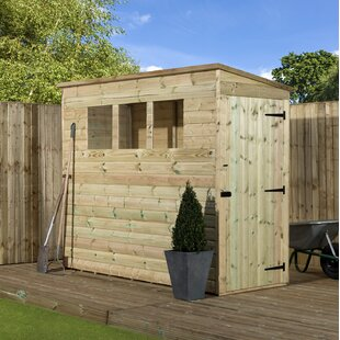 3 Ft. W X 8 Ft. D Shiplap Pent Wooden Shed By WFX Utility