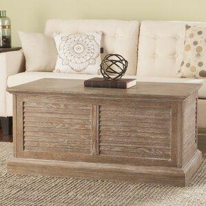 Beachcrest Home Adreanna Louvered Coffee Table Trunk