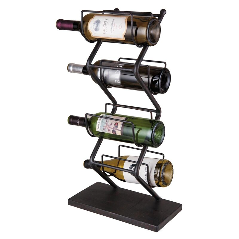 Iron 4 Bottle Tabletop Wine Rack