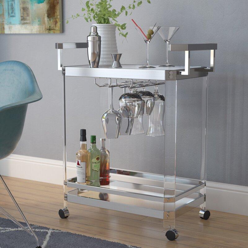 Wade Logan Bales Server Bar Cart