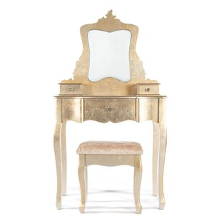 Kayla Dressing Table Set With Mirror By Rosdorf Park