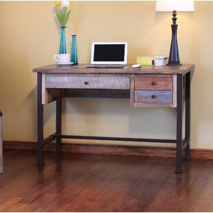 Stimson Reclaim Wood Desk by Millwood Pines Best