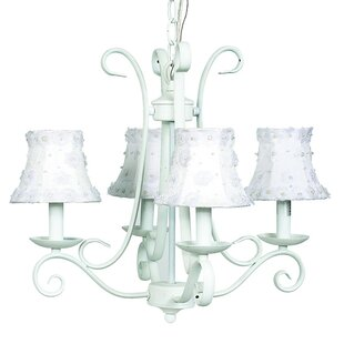 Harp 4-Light Shaded Chandelier by Jubilee Collection
